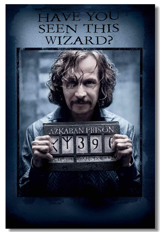 Пользовательские Холст принты HP3 Azkaban заключенный плакат разыскивается Сириус