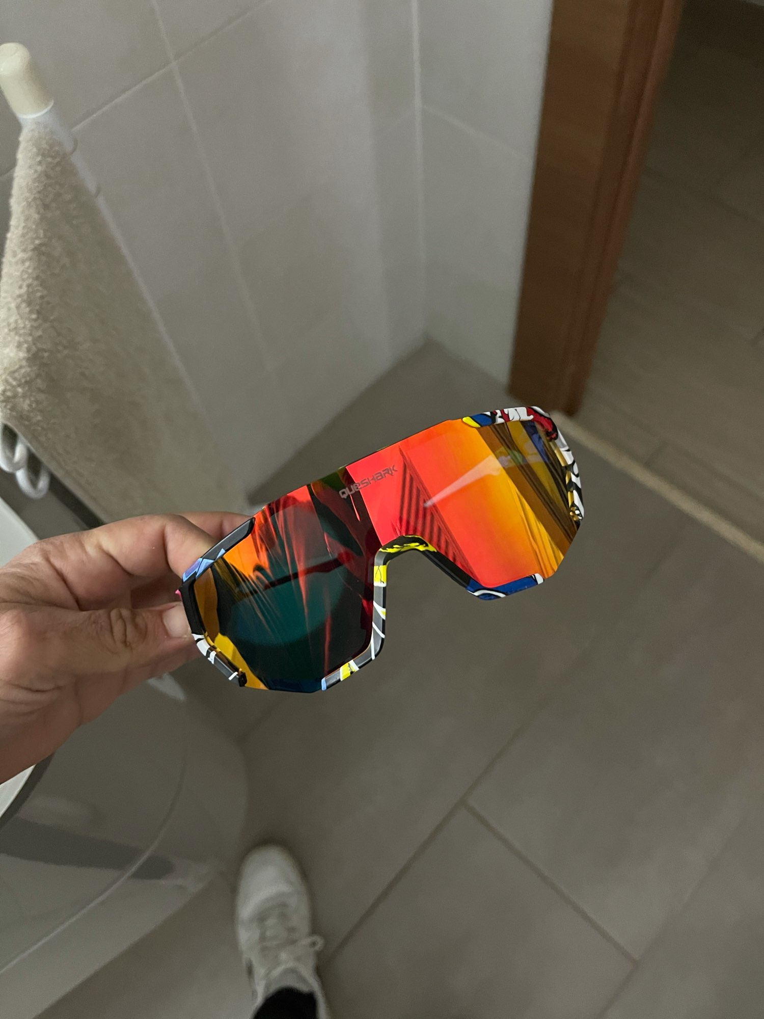 Geometric Design Polarized Cycling Sunglasses photo review