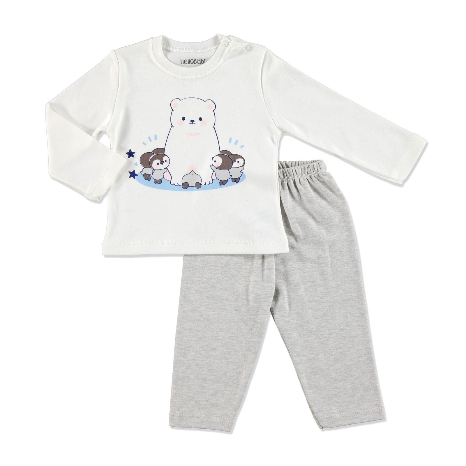 Ebebek HelloBaby invierno Bebé básico impreso pijama conjunto Ebebebek zapatos de bebé de primer paso