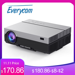 Image 1 - Everycom T26L Full HD Projector 1920x1080P Projector Portable 5500 Lumens HDMI Beamer Video Proyector LED Home Theater Movie