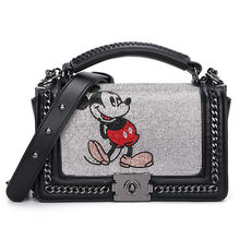 Luxus Handtaschen Frauen Umhängetasche/messenger Taschen Designer Cartoon Maus Diamanten Damen Hand Taschen Lock Cluth Tasche Sac Haupt Femme(China)