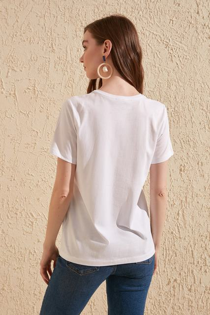Trendyol Women T-Shirts Tees , Shirts & Tops Women color: Black|White