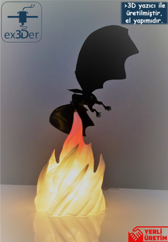 Decorative Flame Dragon Desktop Lamp 5