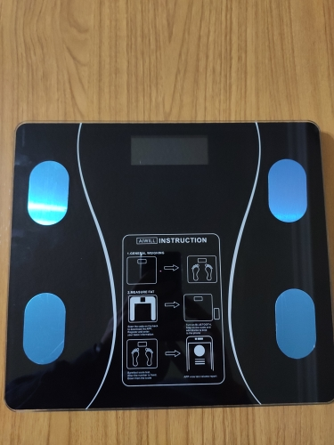AIWILL Household LED Digital Weight Bathroom Balance Bluetooth Android or IOS Body Fat Scale Floor Scientific Smart Electronic|Bathroom Scales|   - AliExpress