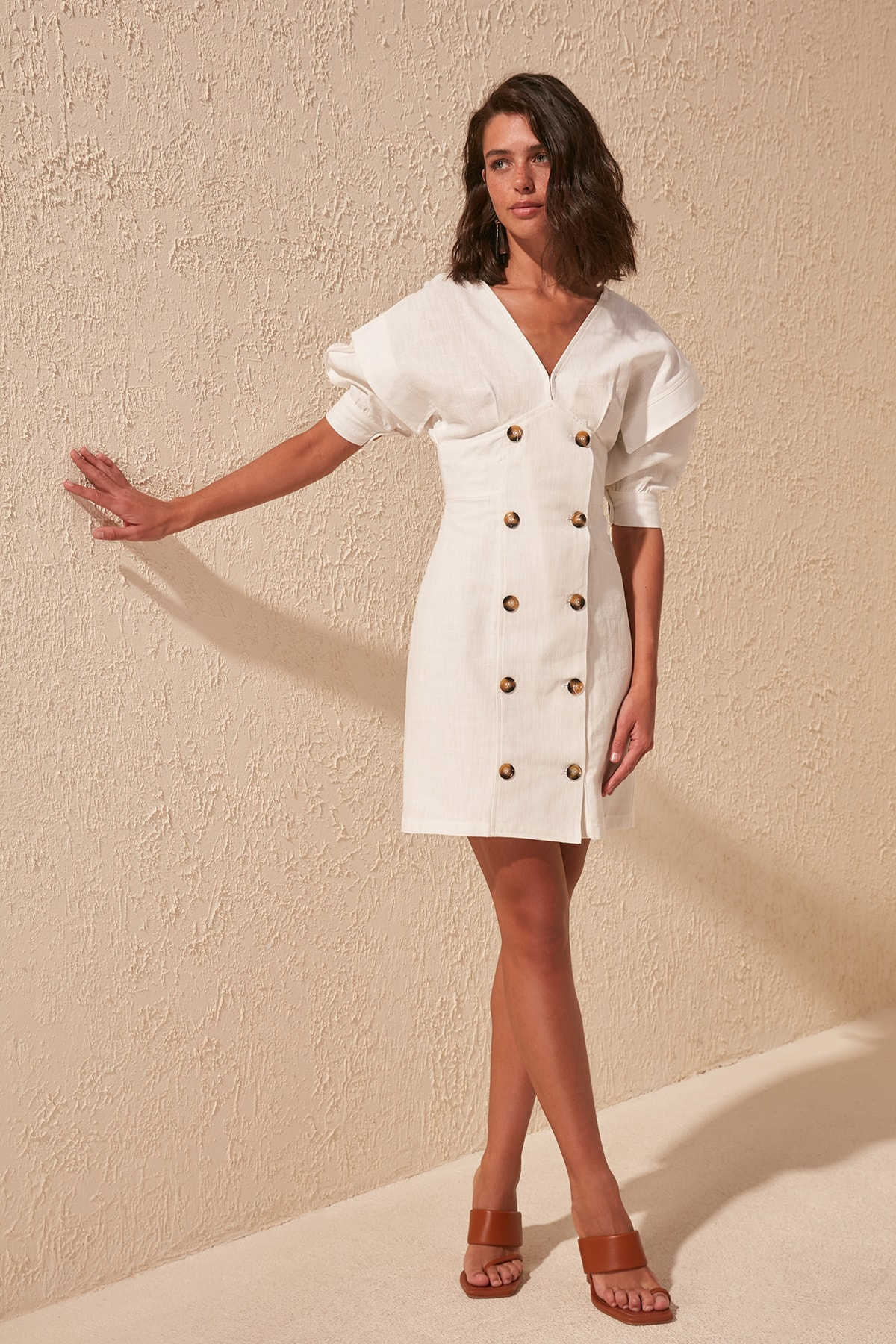 Trendyol Button Detail Dress TWOSS20EL1063