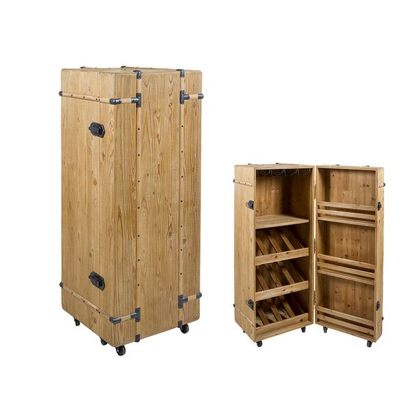Bottle Rack Cabinet Fir Wood (126 X 50 X 50 Cm)