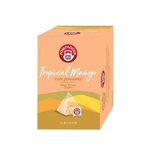 Tropical mango, apple and ginger, Pompadour. 15 pyramids of 2 gr