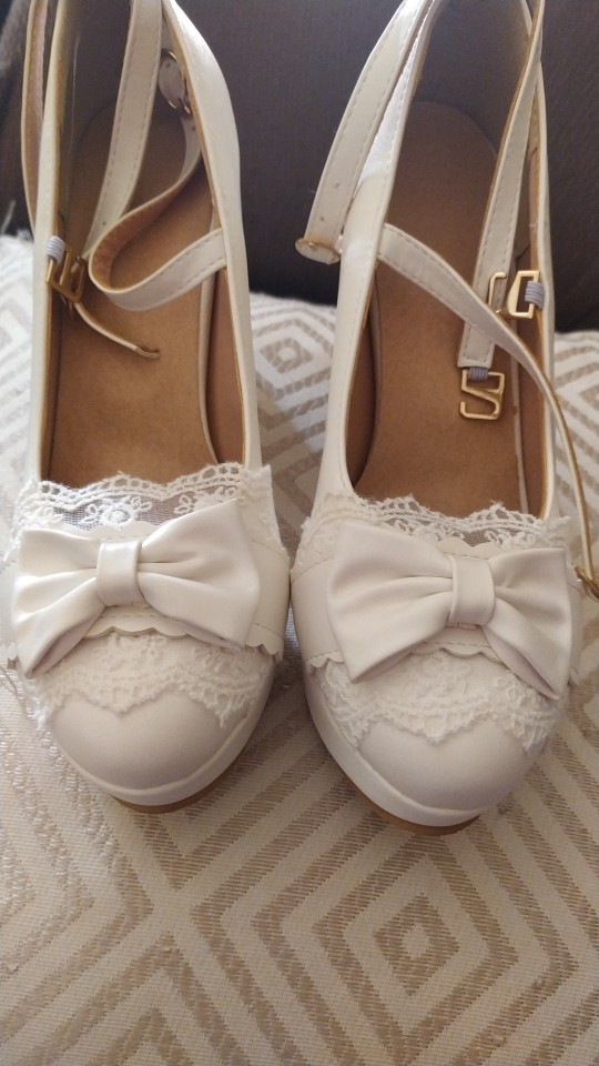Cute Bow Lace Princess Mary Jane Lolita High Heel photo review