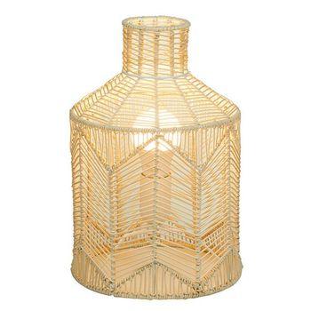 Настольная лампа натуральный РАТАН (21X21x31 см)