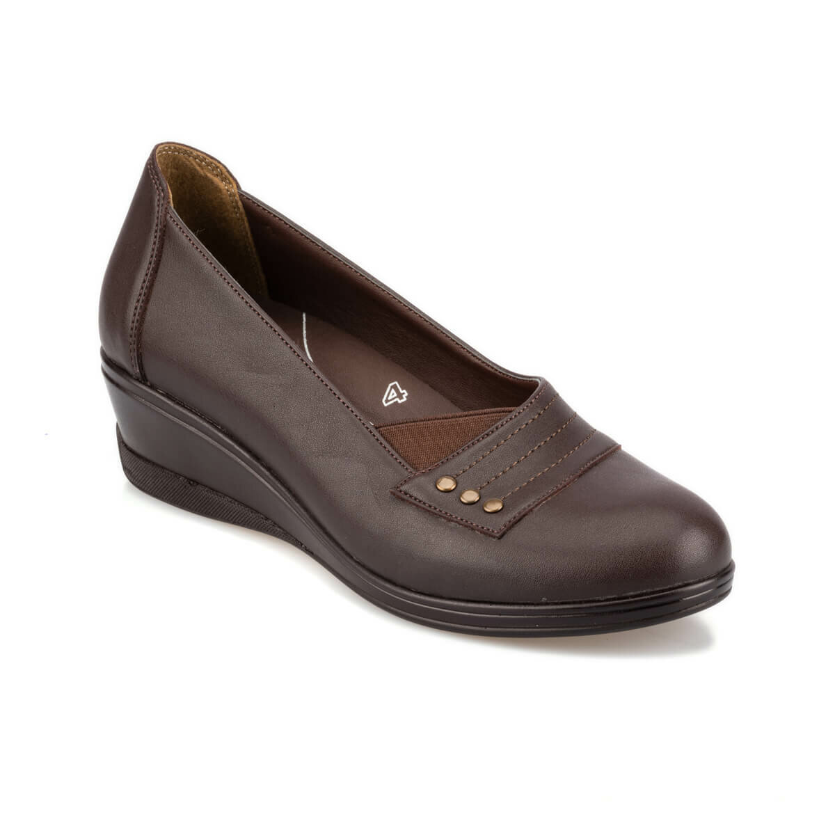 FLO 92. 101019.Z Brown Women 'S Wedges Shoes Polaris 5 Point