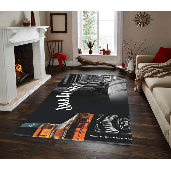 Herms Jack Daniels 3 Non Slip Floor Carpet, Teen's Carpet,