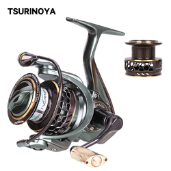 TSURINOYA Spinning Fishing Reel JAGUAR 3000 9+1BB Double Spools Anit-corrosion High Speed Fishing Wheel Extra Spare Spools