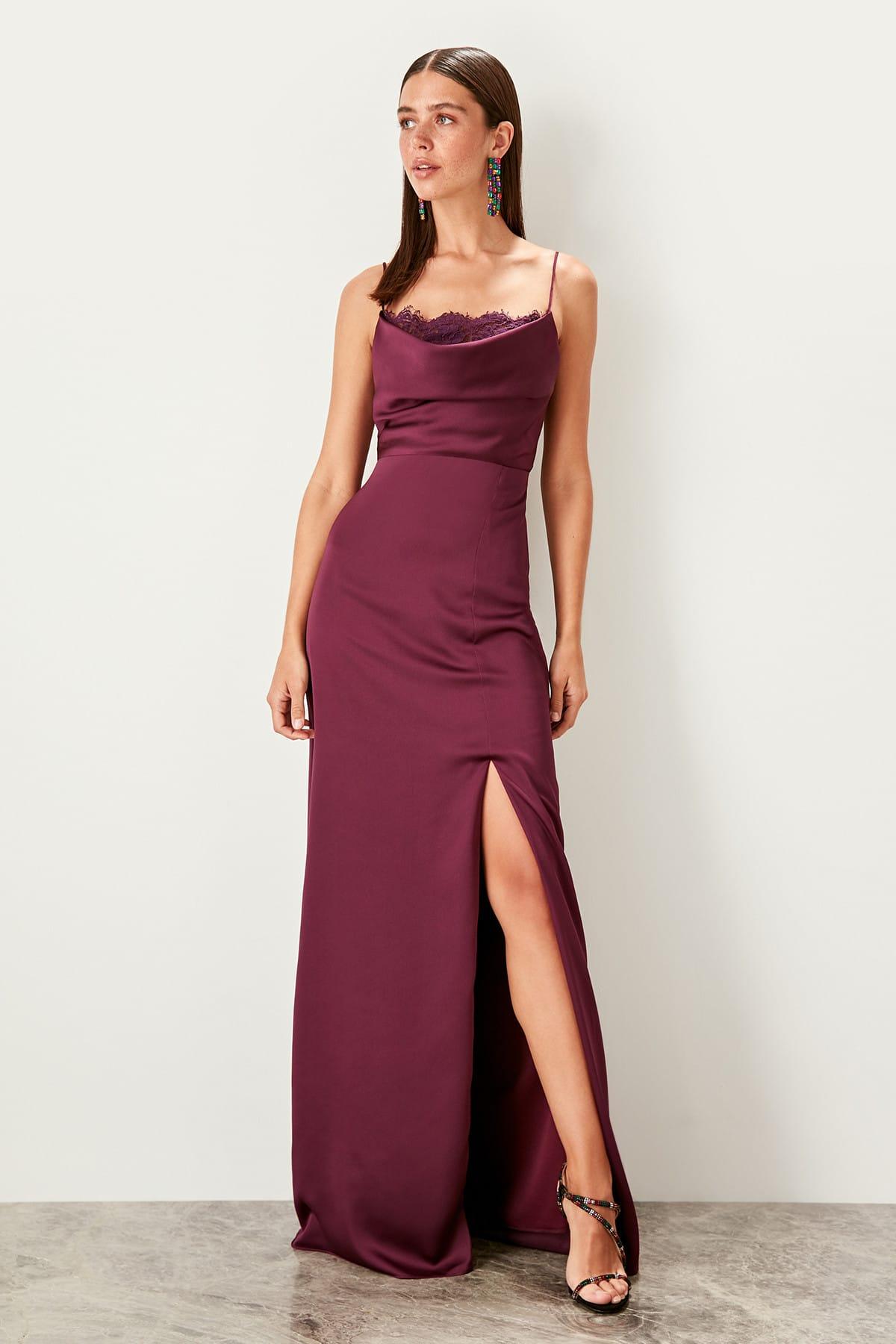 Trendyol Lace Detailed Evening Dress TPRSS19BB0306