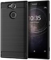 Case Sony Xperia XA2 color Black (Black), carbon series, caseport