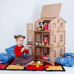 Casa de muñecas para juguetes el mejor regalo para niña Casa de juguete muñecas casa de muñecas accesorios bloque parte rompecabezas acción 000-311