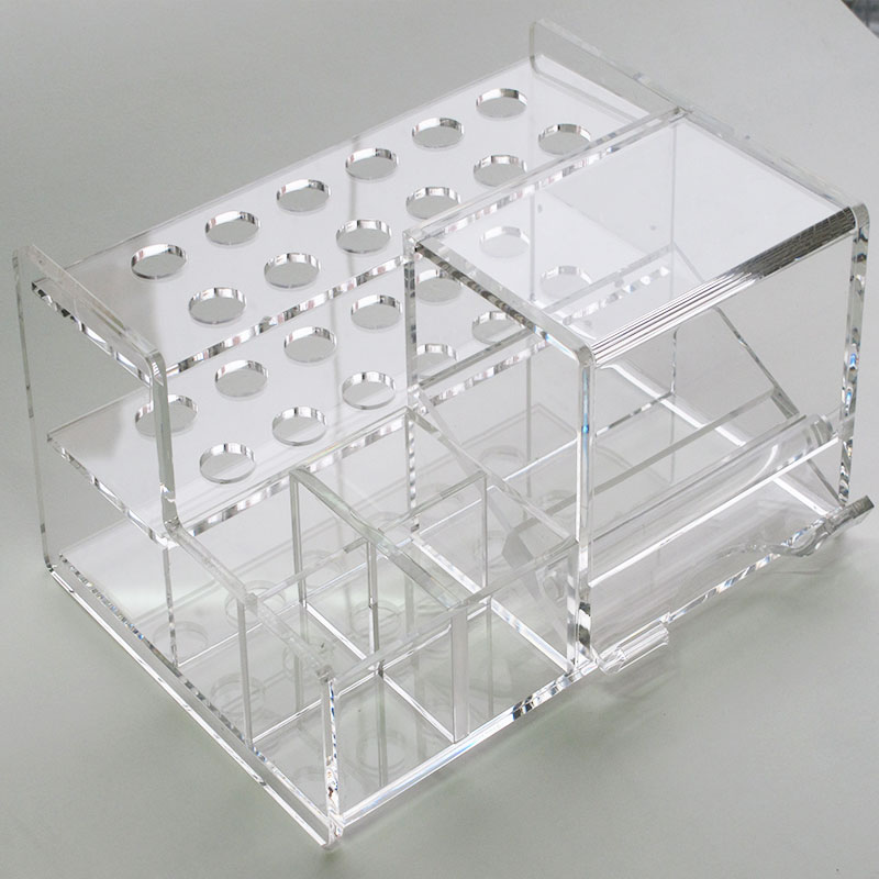 1Set Dental Adhesive Resin Placement Syringe Frame Acrylic Organizer Holder Case For Dentistry Supply