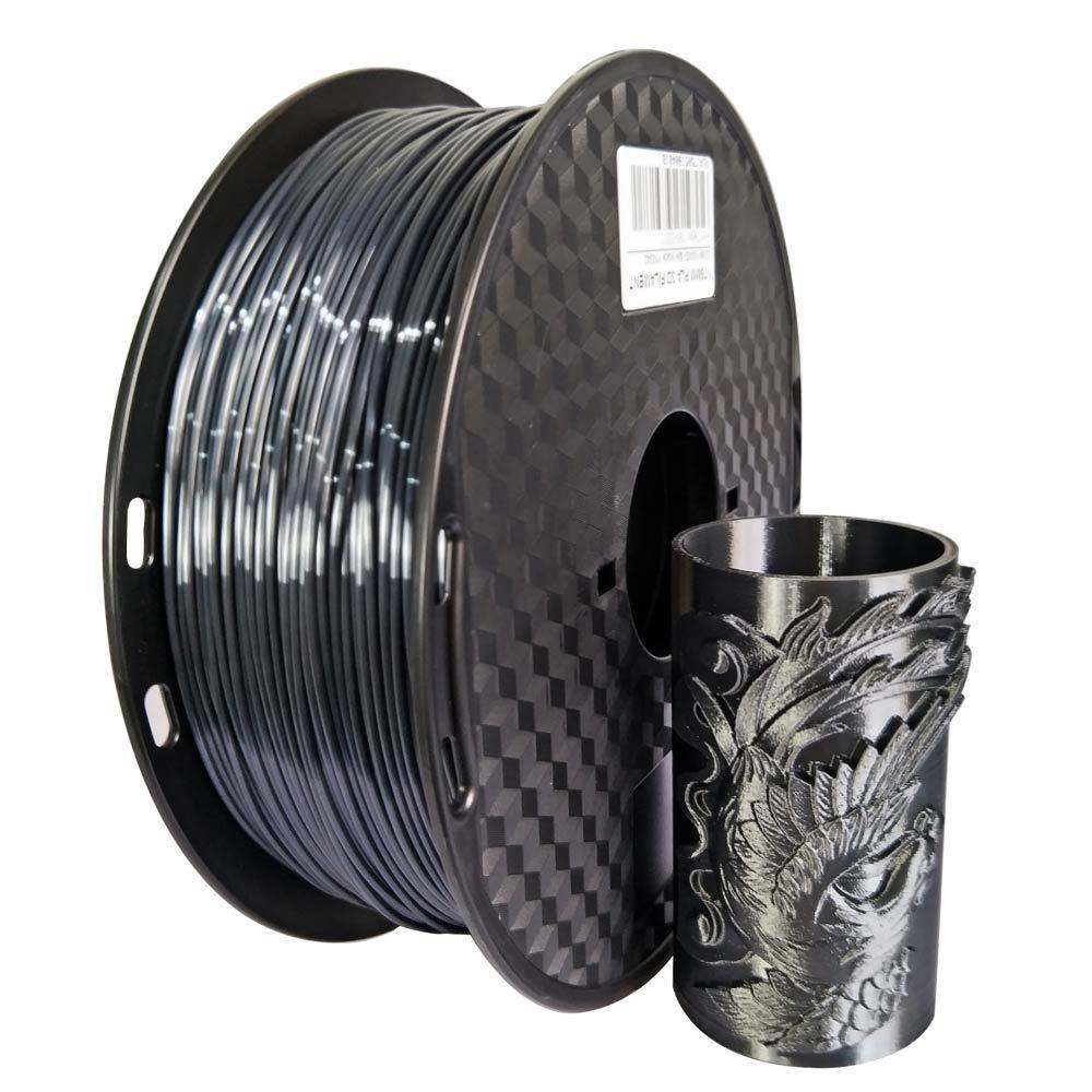 EasyThreed Silk Black 3D Printer PLA Filament 1.75mm 1 KG/2.2lb Spool 3D Printer Filament PLA Brazil Warehouse