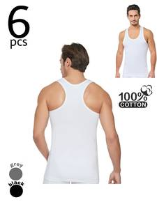 Underwear Tank-Tops Rambo-Style 100-Cotton Mens 1-3-6pcs-% Sport-Model