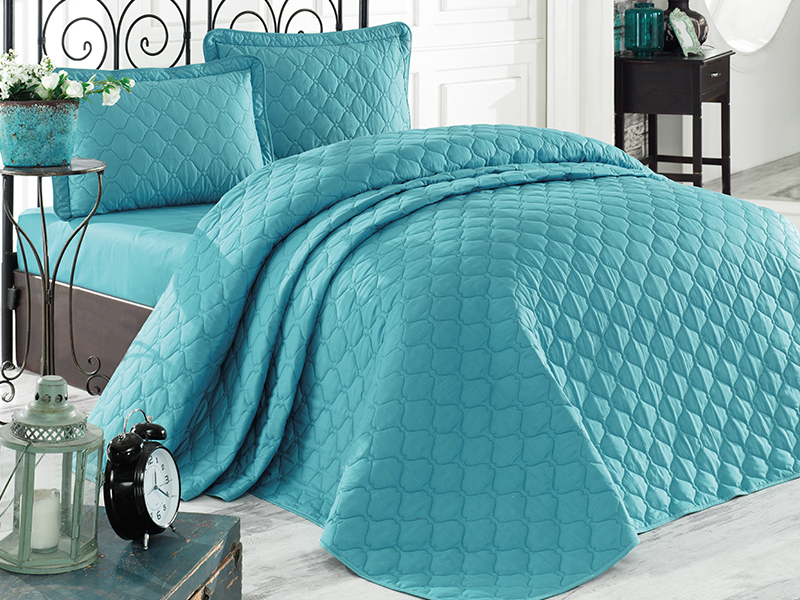 Bedspread Bed Throw 220x240 cm Anthracite Duvet Double Bed Sofa Cotton