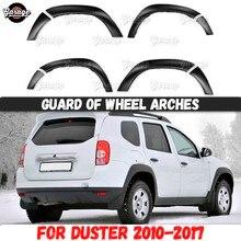 Schutz von rad bögen für Renault / Dacia Duster 2010 2017 ABS kunststoff zubehör schutz platte kratzer auto styling tuning