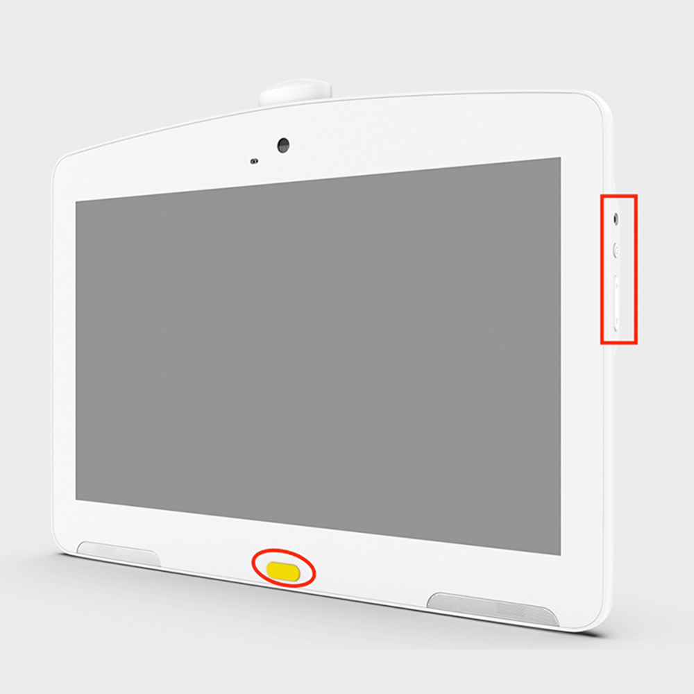 13.3 inch white Android POE tablet ideal for hospital interactive display, self-service kiosk with FHD IPS 10 point Touch screen