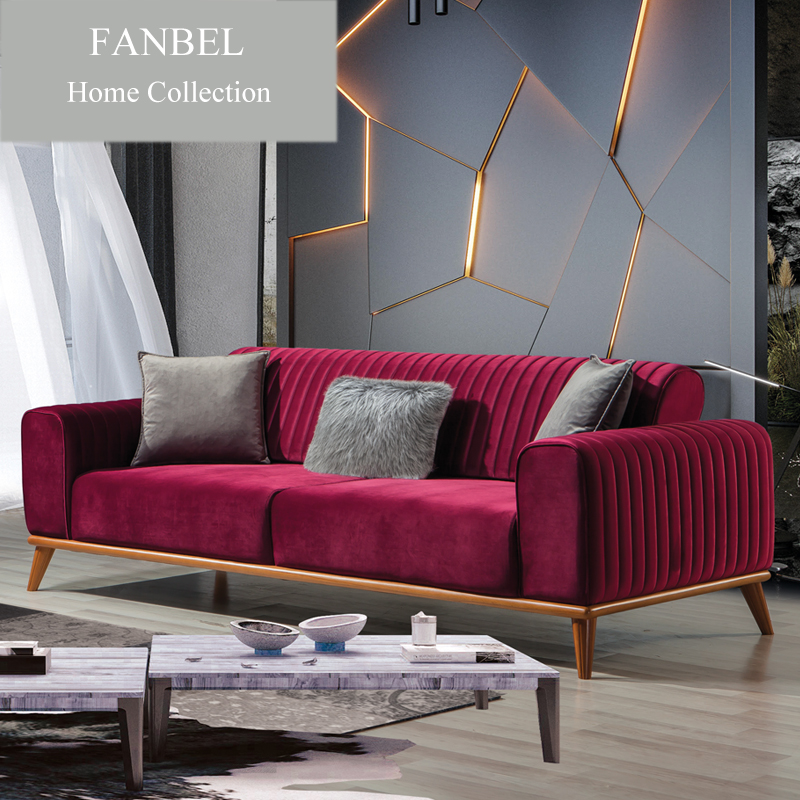 FANBEL Furiniture Morden Sofa Livingroom Set Single Chair Wood Frame Luxury CIZGI