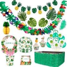 Wayfun Hawaii Aloha Banner Hawaiian Party Decoration Tropical Summer Party Supplies Flamingo Decor Wedding Birthday Decoration