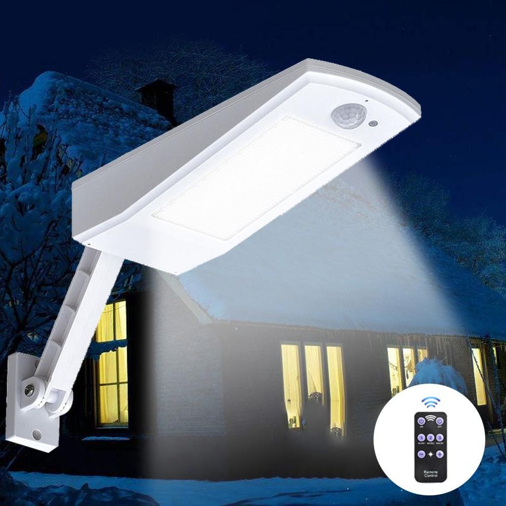 1000LM Solar Light PIR Motion Sensor  66 LED Auto With Remote Control Adjustable Solar Powered Lamp Waterproof For Garden Outdoo