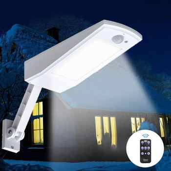 1000LM Solar Light PIR Motion Sensor  66 LED Auto With Remote Control Adjustable Solar Powered Lamp Waterproof For Garden Outdoo - DISCOUNT ITEM  21% OFF All Category