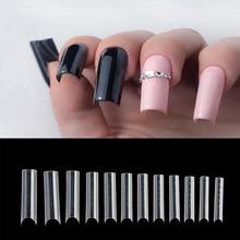 BNG 120pcs Square Dual Form Extension French False Tips Poly Nail Gel System UV GEL Acrylic DIY Nail Decoration Art Mold Tips
