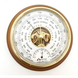 Barometer + thermometer household indoor wall mounted in the Wood утёс бтк сн-14