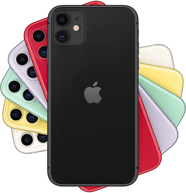 "Apple iPhone 11 Smartphone (64 GB ROM, 4 GB RAM, Black Color, 12 MP Rear Camera, 12 MP Selfie Camera, 6.1 ""Screen, iOS System, New, Free, Cheap) [Mobile Phone EU Version] Plaza España, Mobile, Mobile, Mobile Phone Free 1"