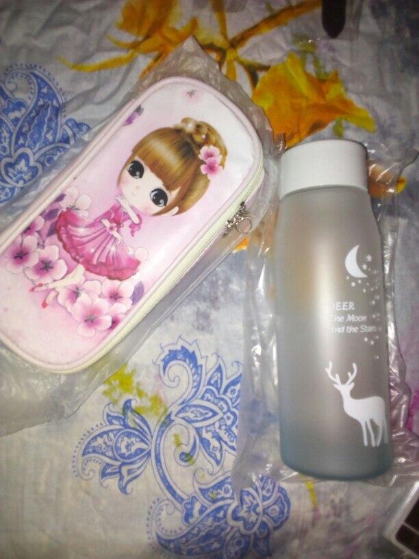560ml Water Bottle Leak Proof for Girl Biking Travel Portable Water Bottles Plastic H1177|Water Bottles| |  - AliExpress
