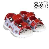 Sandálias infantis minnie mouse 73644 vermelho