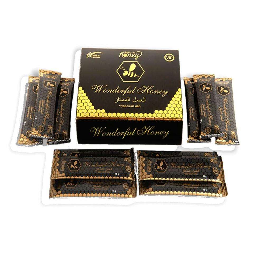 Wonderful Honey Vip Dose Vital Men Sexual Increase Natural Original 15 Gr *12 Sachets Food Supplement Made In Turkey