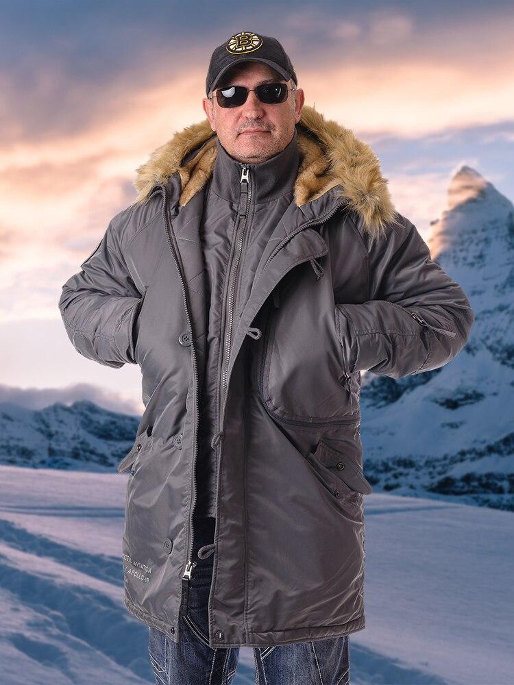 Аляска Apolloget Expedition мужская зимняя куртка с капюшоном из искусственного меха, с карманами и водонепроницаемым материалом|Парки| | АлиЭкспресс