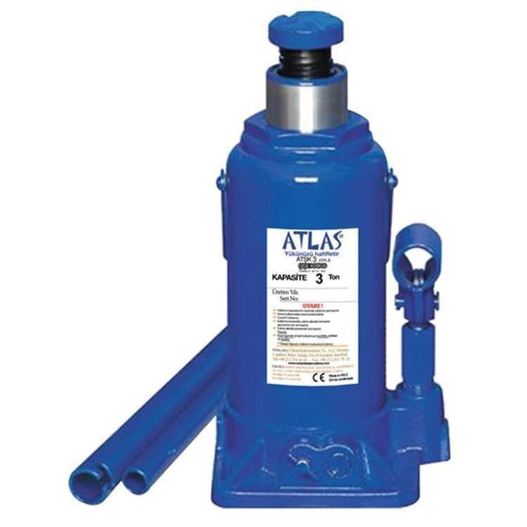 ATLAS ATŞK3 Hydraulic Bottle Jack, Capacity 3 Tone