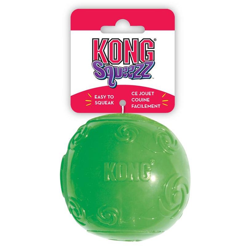 Мячик резиновый с пищалкой Kong Squeezz Ball