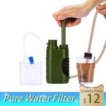 Фильтр для воды соломинка Сменный фильтр для фильтрации воды очиститель для выживания на природе экстренный Кемпинг Походное оборудование