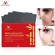 Бамбуковый уголь, двойной цвет, масло, абсорбирующая бумага, очищающее средство для лица, средство для удаления черных точек, лечение акне, красота, масло, впитывающие листы