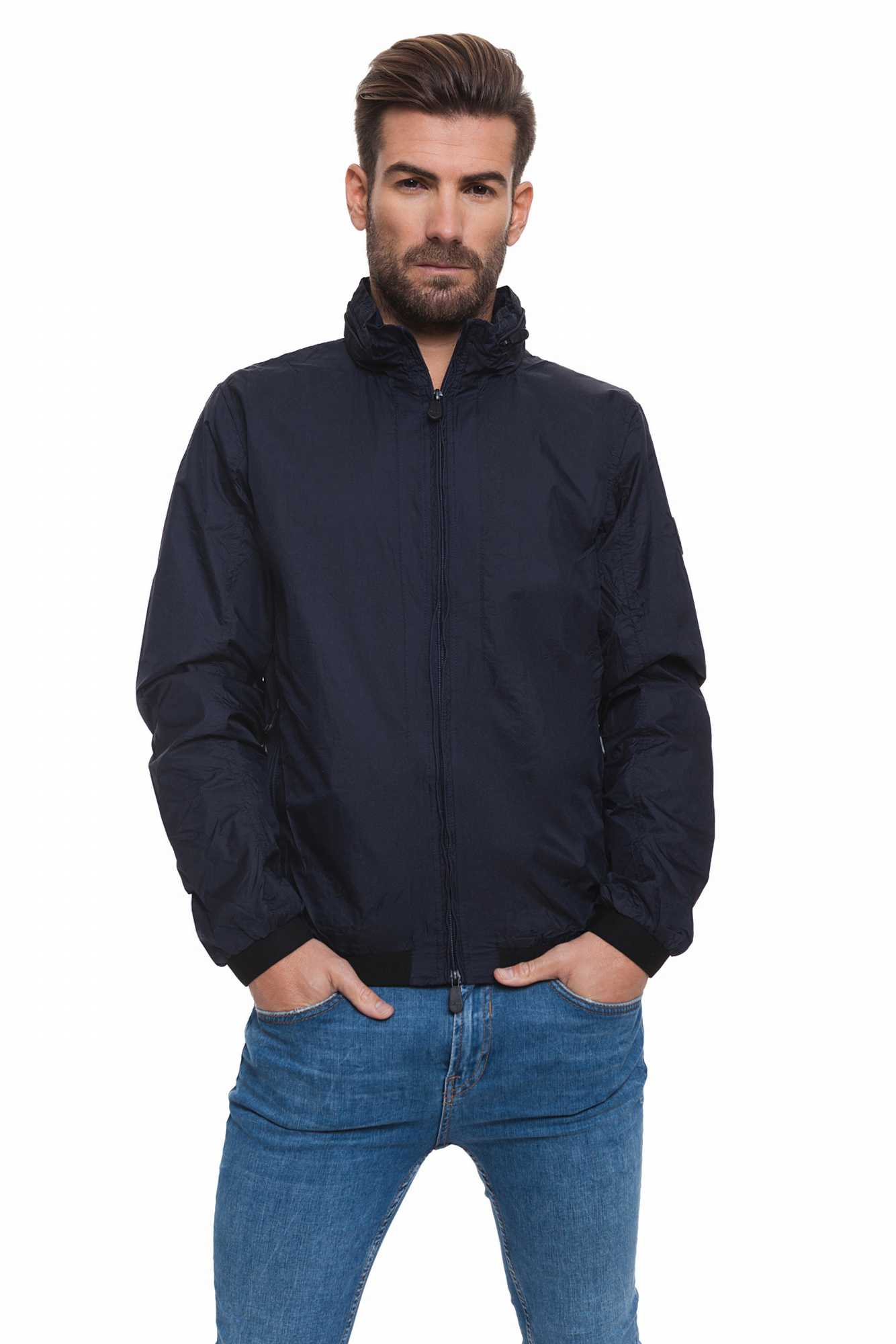 Born Rich Jacket For Men Brazier With Hoodie And Zipper Length Dark Blue Causal BR2K111095AA2BRC-3