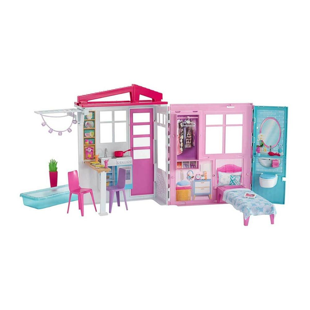 Original Barbie Portable House ,Baby Toys For Girls,Funny Puppy Toys For Birthday...