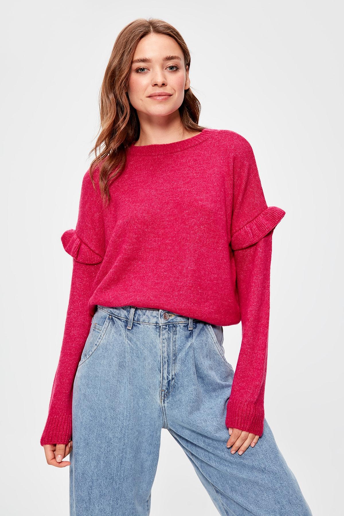 Trendyol Pink Sweater Sweater TWOAW20KZ0369