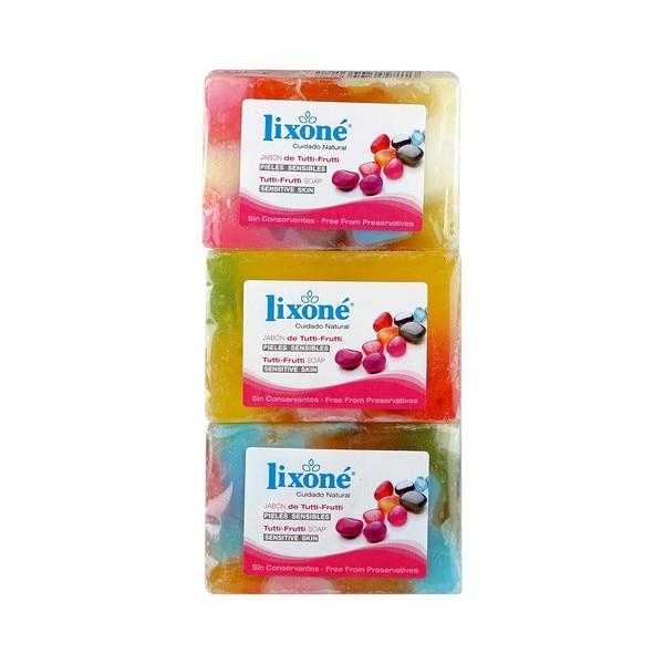Natural Glycerine Soap Bar Tutti-frutti Lixoné (3 Uds)