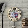 Персонализированные старинные деревянные настенные часы старого города (30 см.)-2