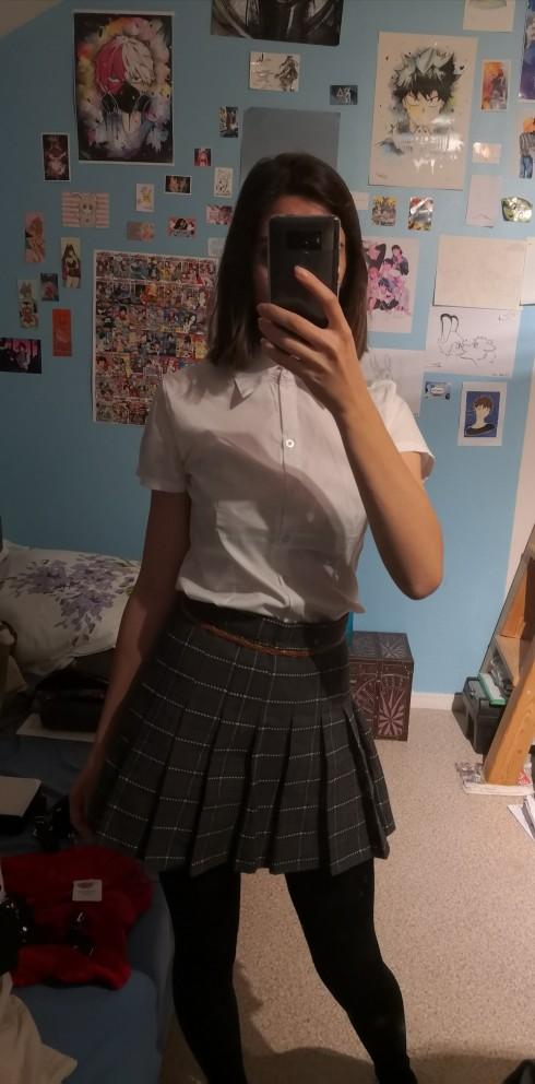 Egirl Harajuku Soft girl Plaid Pleated Mini Skirt photo review