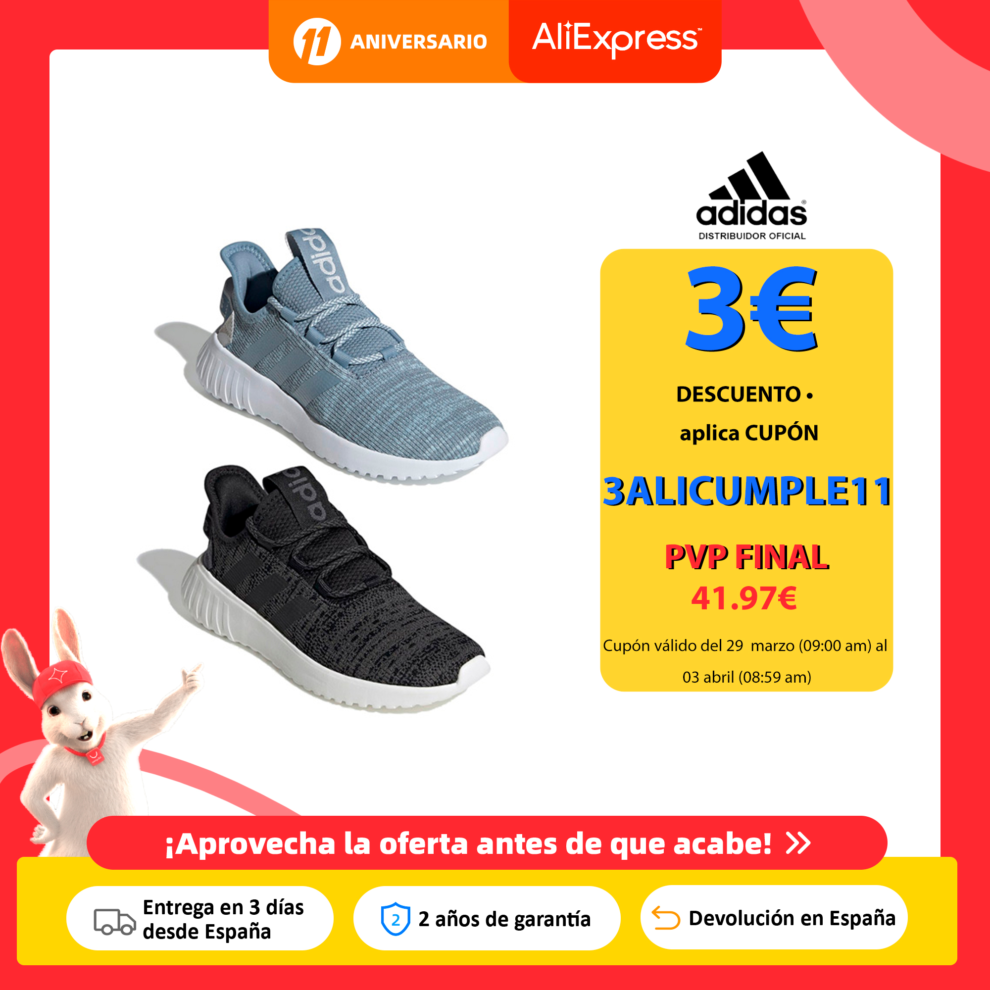 Adidas Kaptir X, Zapatillas Running Unisex, Cierre con Cordones, Parte Superior Texil, Plantilla Cloudfoam Comfort NUEVO Zapatos vulcanizados de mujer  - AliExpress