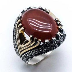 925 пробы серебряный с агатом драгоценный камень кольцо