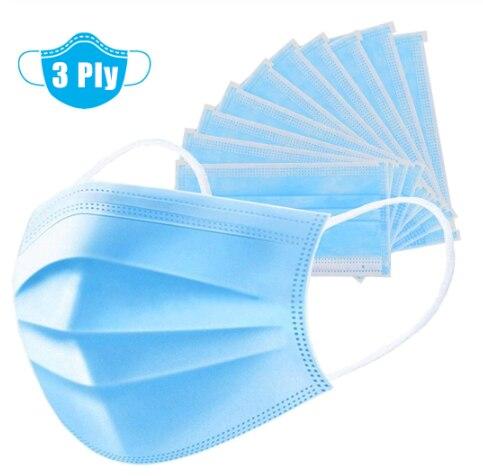 50pcs  Disposable Earloop Face Mouth Masks Facial Protective Cover Masks