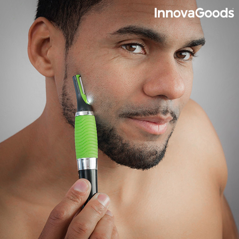InnovaGoods Short Precision Electric Hairs With LED Made Of ABS TPR PC Stainless Steel Includes Cleaning Brush Interchangeable H